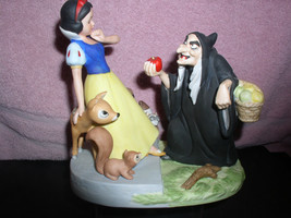 Disney Snow White &  Witch Porcelain Bisque figurine Walt Disney Production - $395.00