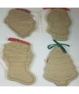 Vintage Brown Bag Cookie Art Molds Angel Stocking Christmas Tree and San... - $54.45