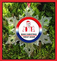 President Trump Make Christmas Great Again Christmas Ornament - X-MAS Snowflake - $12.95