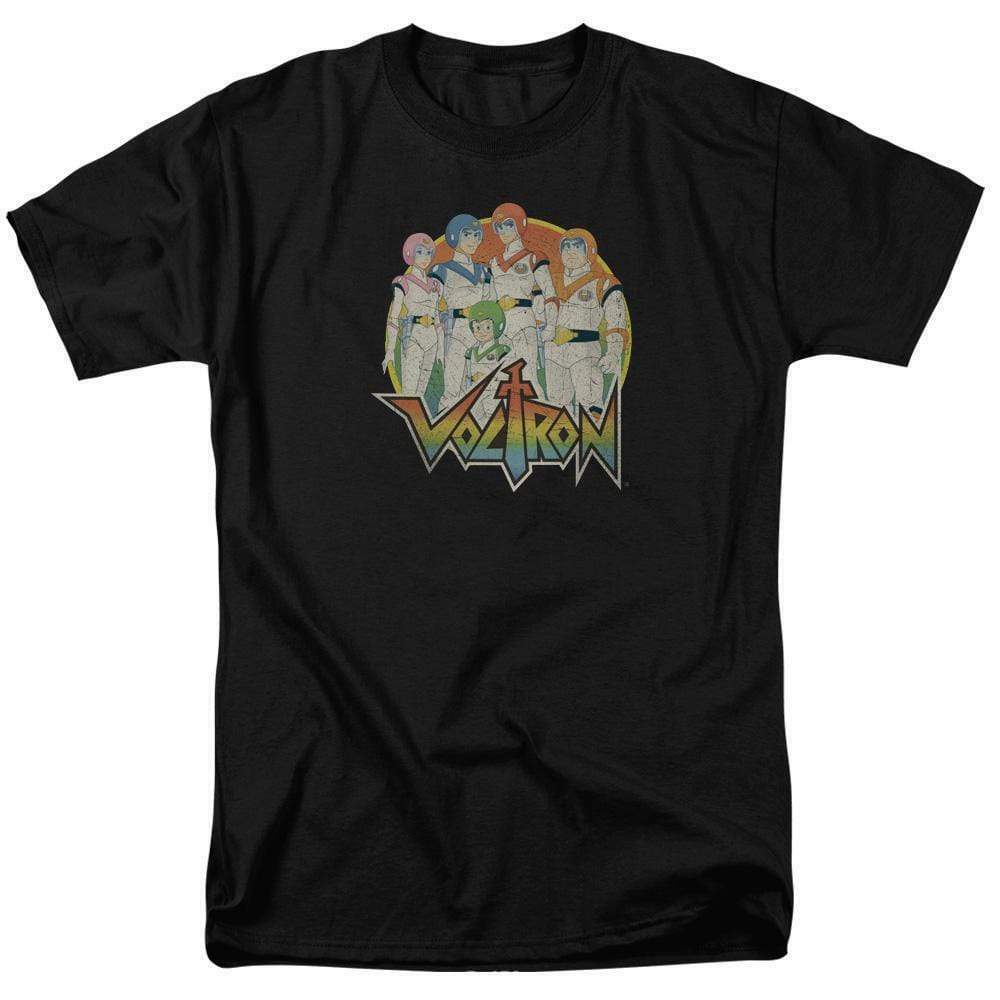 Voltron t-shirt Animated retro 80's TV series 100% cotton graphic tee DRM251