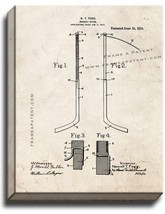 Hockey Stick Patent Print Old Look on Canvas - $39.95+