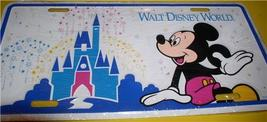 Disney WDW Walt Disney World Mickey Mouse and Castle  License Plate - $39.99