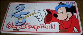 Disney Walt Disney World Mickey Sorcerer 25 years License Plate - $49.99