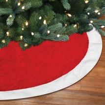 Wondershop Reversible Tree Skirt 34 inch Diameter Red Velvet red Glitter... - $15.57