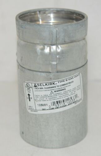 Selkirk 103081 Type B Gas Vent 3RV UAM Universal Adaptor Male