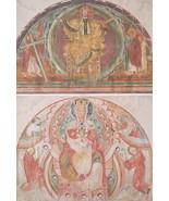 CHURCH PAINTINGS  France 12th C Virgin Throne Christ  - 1888 COLOR Litho... - $25.20