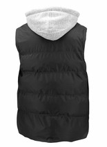 Men's Puffer Quilted Lightweight Zipper Vest With Removable Hood w/ Defects 2XL image 2
