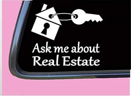 """Ask Me About Real Estate Sticker TP 1192 6"""" Decal agent sales house key closing"""