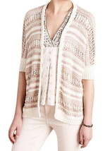 Anthropologie Sparkly Me Cardigan XSmall Small 0 2 4 6 Dolman Sweater Shimmering - $48.30