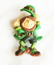 Hallmark St. Patrick Day Pin Irish leprechaun tipping hat - $6.50