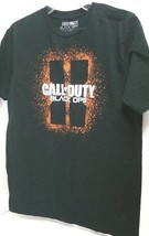 Call of Duty Black Ops Black T-Shirt with Orange pre-owned size L - $6.35