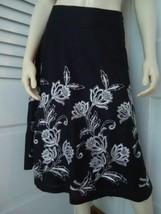 Ann Taylor Loft Sz 4 Skirt Flirty A-Line White Floral Embroidery Lined Sweet! - $49.47