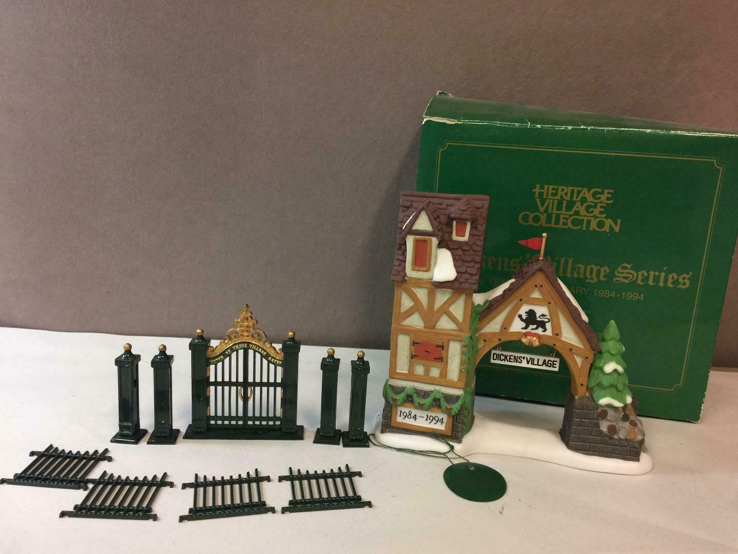 Primary image for Lot of 2 DEPT 56 Heritage, Postern 10 year anniv. 1984-1994, Iron Village Gate