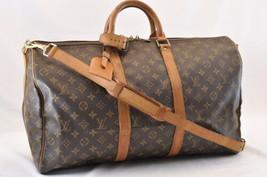 LOUIS VUITTON Monogram Keepall Bandouliere 50 Boston Bag LV Auth 6380 - $498.00