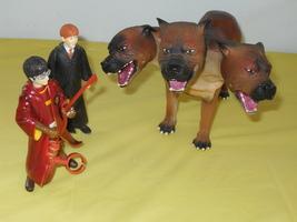 2001 Harry Potter 3 Headed Fluffy Dog & 2 Harry Potter Figures - $44.99