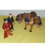 2001 Harry Potter 3 Headed Fluffy Dog & 2 Harry Potter Figures - $44.99