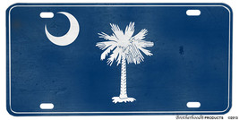 South Carolina Palm Tree & Moon Distressed Look License plate - $13.81