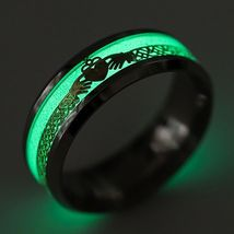 GLOW IN THE DARK BAND RING   **SIZE 13.2**    (12504)   WE COMBINE SHIPPING - $4.75