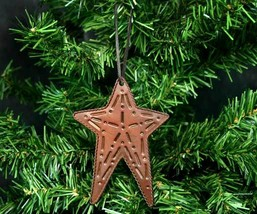 Brown Tin Metal Country Star Christmas Ornament - $9.98