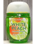 White Peach Chardonnay Pocketbac Antibacterial Sanitizer Hand Gel Bath B... - $5.00