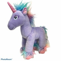 Build A Bear Fairy Friends Purple Unicorn Pastel Rainbow Plush BAB 2018  - $15.79