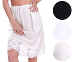 New Women's Premium Illusion Classic Half Slip Skirt With Lace Trim 1017/1817 image 1