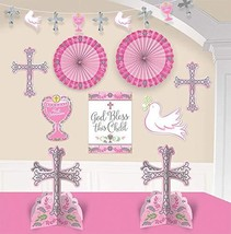 Amscan First Communion, Pink Room Party Decorating Kit, 10 Pc. - $12.82