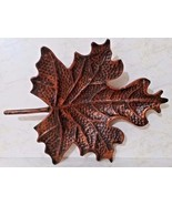 Harvest Metal Leaf Tray For Fall/Autumn/Thanksgiving - Copper Tones - 19... - $26.18