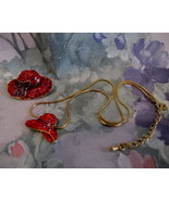 RED HATTERS Necklace and Brooch Lapel Pin RED HAT SOCIETY Collectible JE... - $19.95