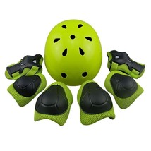 Children Sport Helmet With Knee Elbow Pads Wrist Protection Set Cycling ... - $38.82