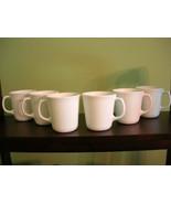 Vintage Corelle Winter Frost White - Corning Suprema Flared Mugs - Set of 6 USA - $22.50