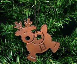 Rusty Brown Tin Metal Reindeer Christmas Ornament - $9.98