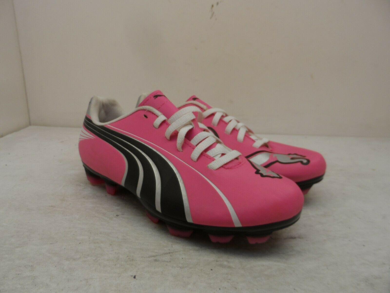 Puma Girl's Low Attencio II FG Jr Soccer Cleats Pink/Blue/Silver Size 3Y - $23.74