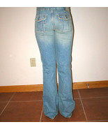 Womens $128 New Chip & Pepper Jeans 25 26 X 32 Flat Front Boot Flap Pock... - $64.00