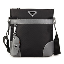 Men Oxford Leisure Crossbody Bag Business Shoulder Bag Keychain - $34.49