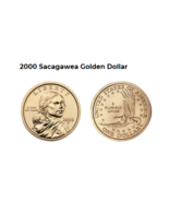 Sacajawea 2000 P First Mint Year. The Golden One Dollar Coin. - $3.50