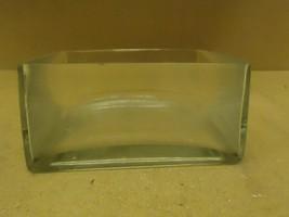 Designer Flower Pot 8in W x 8in D x 4in H Clear Modern Square Glass - $25.71