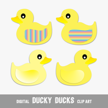Digital Clip Arts Yellow Ducklings - Print or Digital Scrapbook (PU & CU) - $3.00