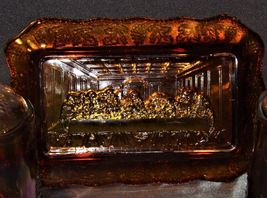 Amber Last Supper TrayAA18-1322 Vintage image 2