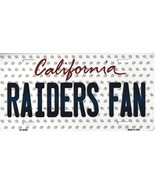 Raiders California State Background Metal License Plate Tag (Raiders Fan) - $11.95