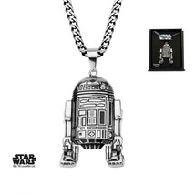 Disney Star Wars Stainless Steel R2D2 Pendant with Chain - $56.00