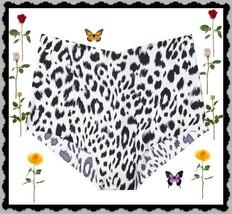 M  Black Grey Leopard NOSHOW Edge Victorias Secret High Waist Midi Brief... - $10.99