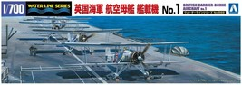 Aoshima 1/700 No.568 British CARRIER-BORNE Aircraft No.1 Model Kit w/Tracking# - $13.14