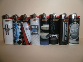 8 Bic Ford Full Size Lighters, popular 8 lighters, special designs, limited - $18.76