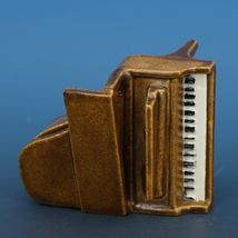 Vintage Porcelain Dollhouse Miniature Grand Piano Good Casting - No Bench image 6