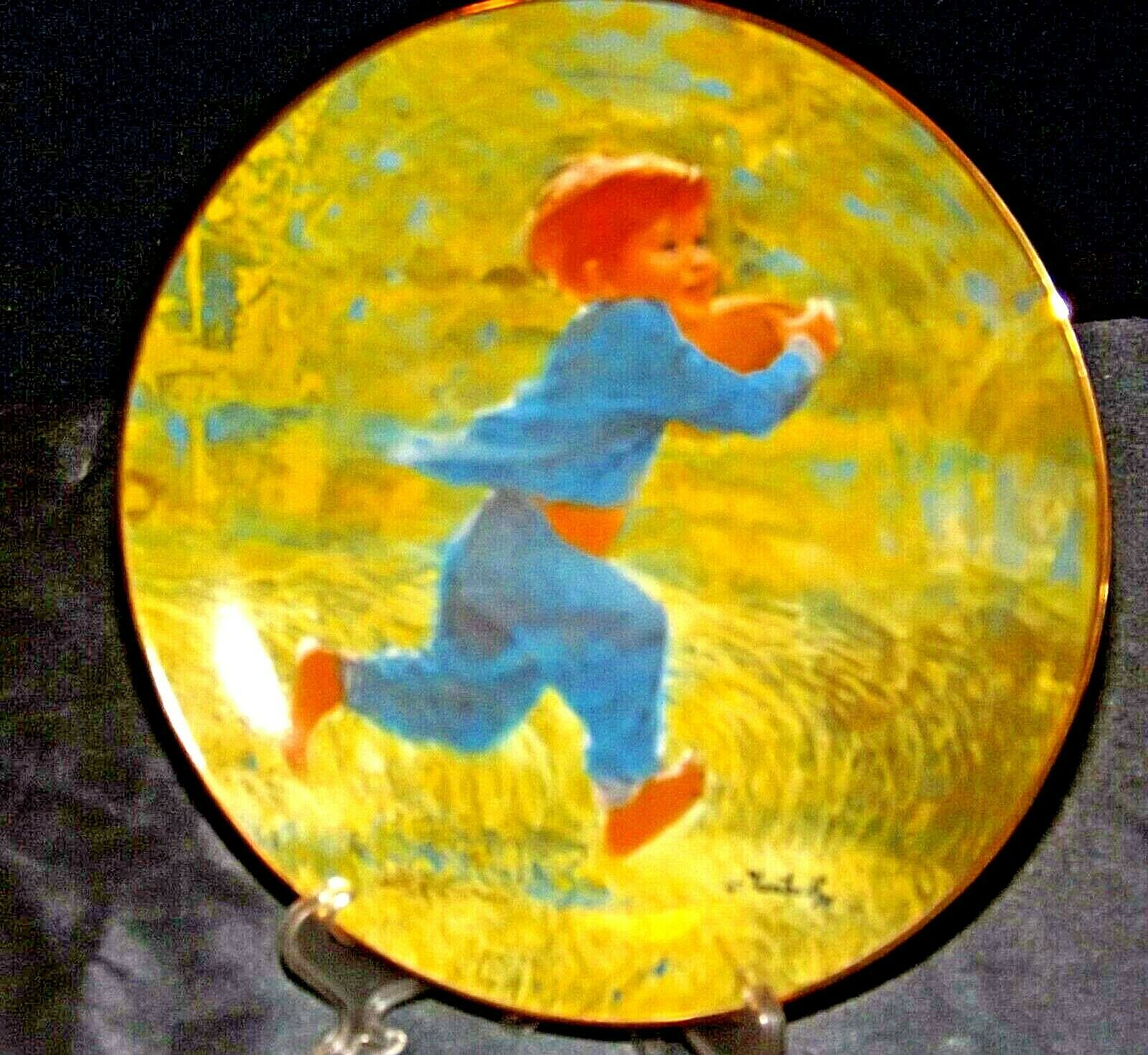 """""""Touchdown"""" Carefree Days Plate Collection by  Thornton Utz AA20-CP2323 Vintage"""