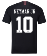 PSG x JORDAN Black 10 NEYMAR 2018-2019 Men Soccer Jersey Football Shirt - $36.99