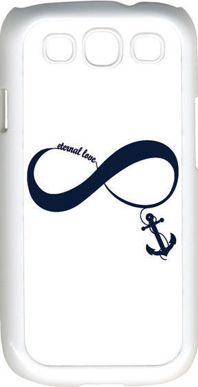 Primary image for White & Navy Blue Infinity Symbol with Anchor Samsung Galaxy S3 Case Cover