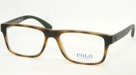 New Polo Ralph Lauren Ph 2182 5602 Matte Dark Havana Eyeglasses Frame 54-17-145 - $84.14