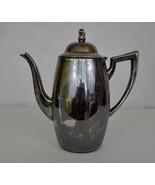 Oneida Silversmiths Silverplate Tea Pot Coffee Pot Hinged Lid Vintage Ar... - $26.13